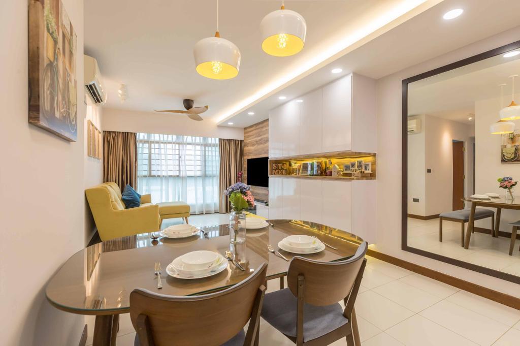 Contemporary, HDB, Dining Room, Edgedale Plains, Interior Designer, Design 4 Space