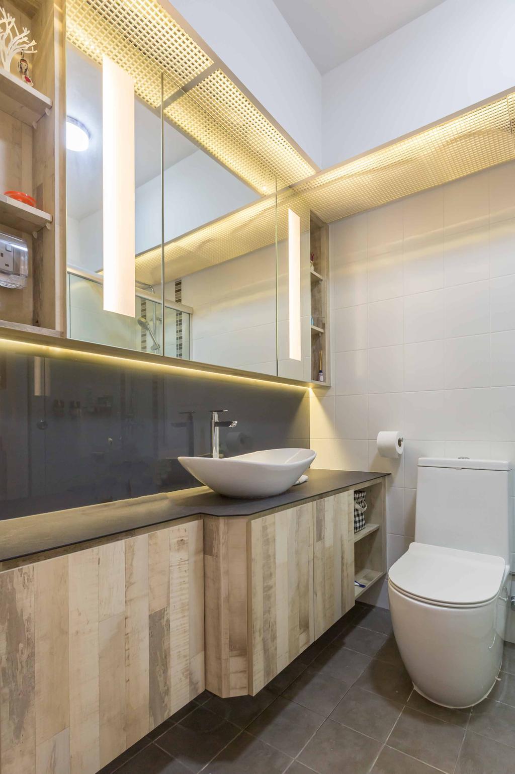 Contemporary, HDB, Bathroom, Edgedale Plains, Interior Designer, Design 4 Space