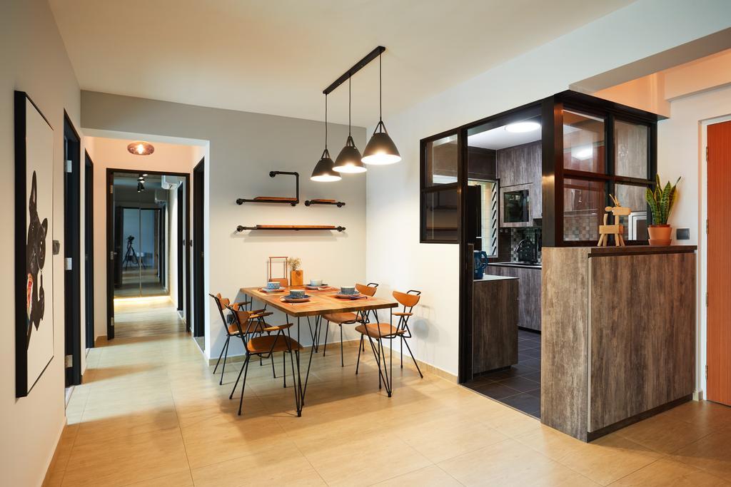 Contemporary, HDB, Dining Room, Jalan Kayu, Interior Designer, Design 4 Space