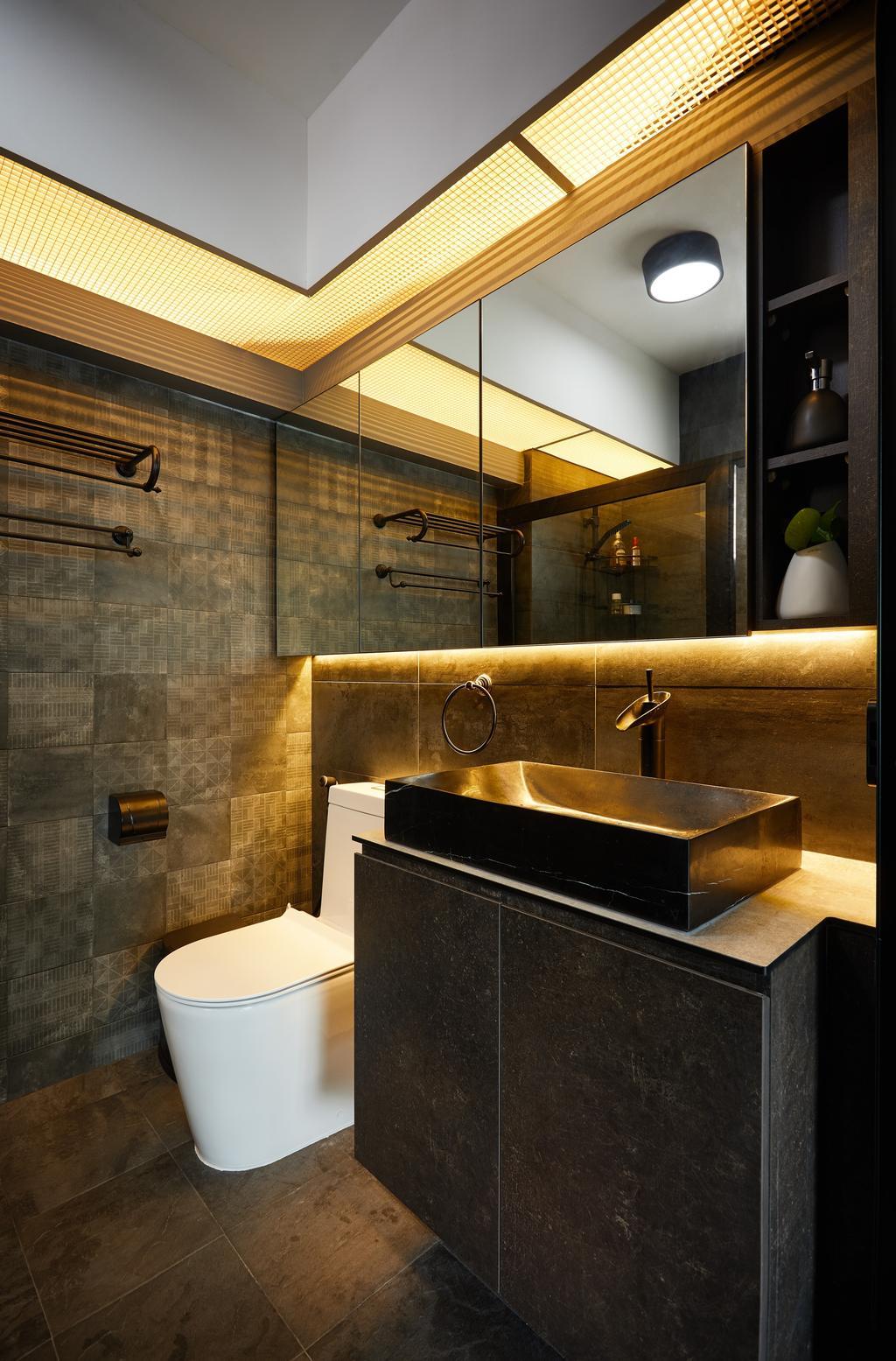Contemporary, HDB, Bathroom, Jalan Kayu, Interior Designer, Design 4 Space