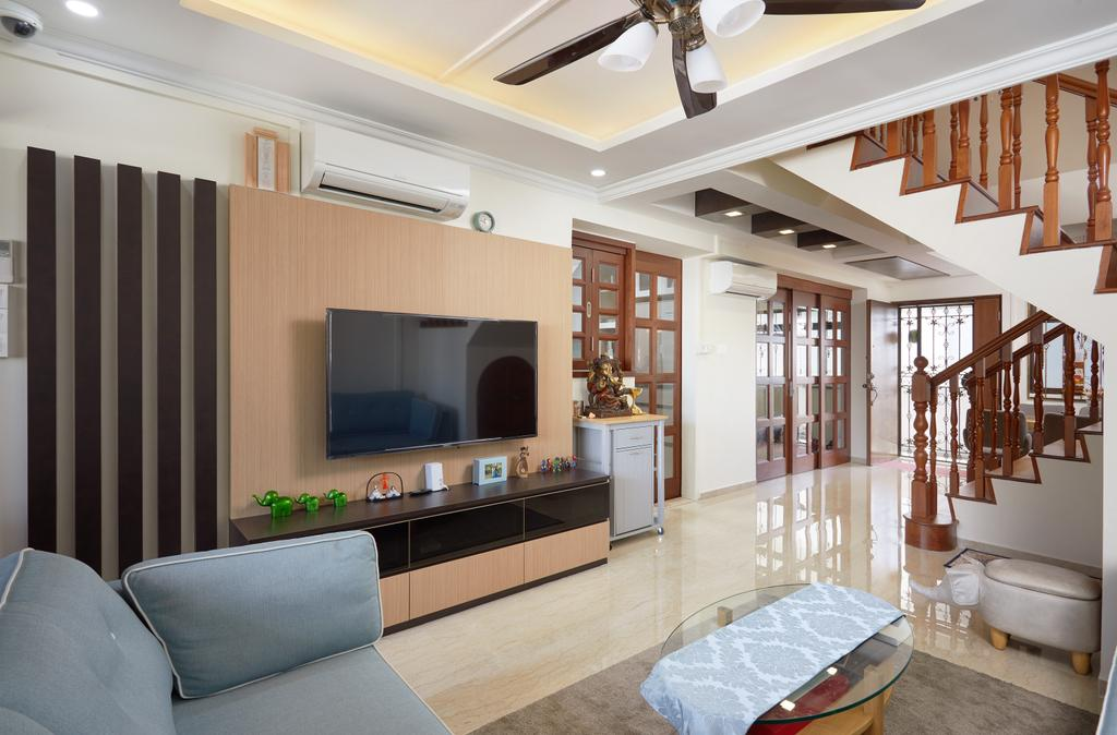 Traditional, HDB, Living Room, Jelapang Road, Interior Designer, Design 4 Space, Maisonette