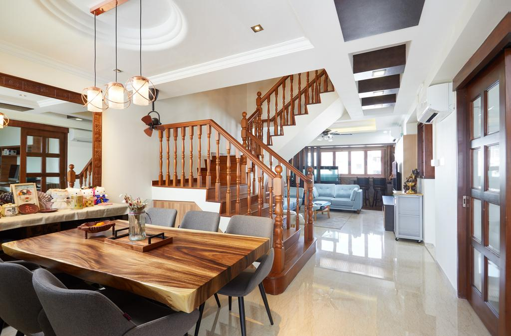Traditional, HDB, Dining Room, Jelapang Road, Interior Designer, Design 4 Space