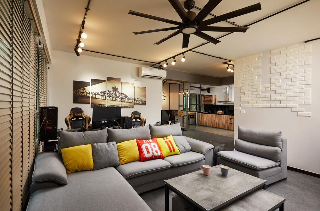 Contemporary, HDB, Living Room, Yungkuang Road, Interior Designer, Design 4 Space