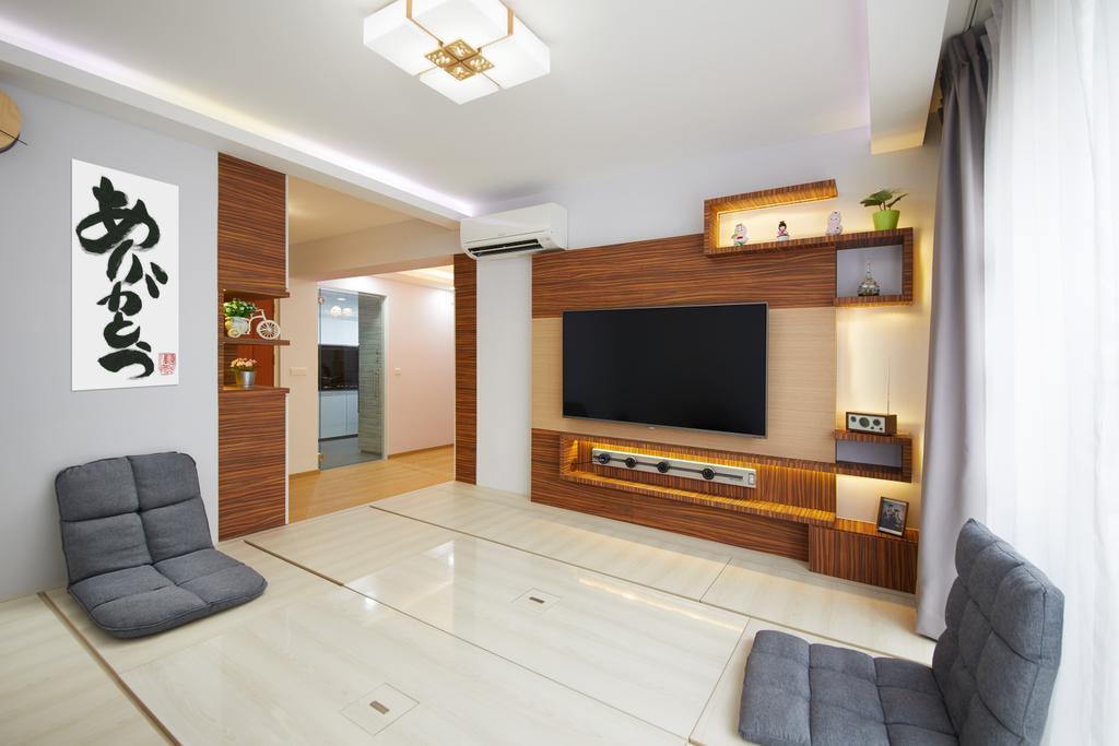 Contemporary, HDB, Living Room, Woodlands Rise, Interior Designer, Design 4 Space