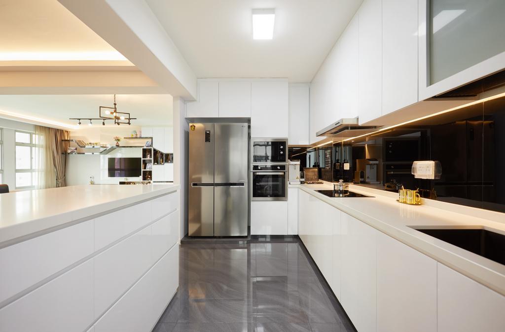 Contemporary, HDB, Kitchen, Canberra Walk, Interior Designer, Design 4 Space