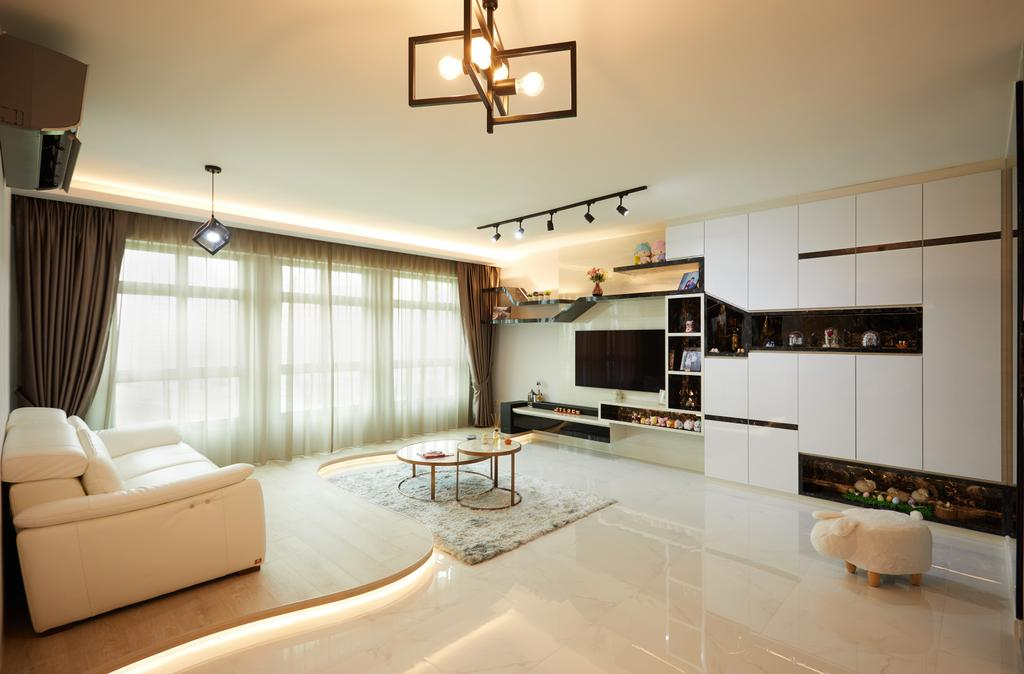 Contemporary, HDB, Living Room, Canberra Walk, Interior Designer, Design 4 Space