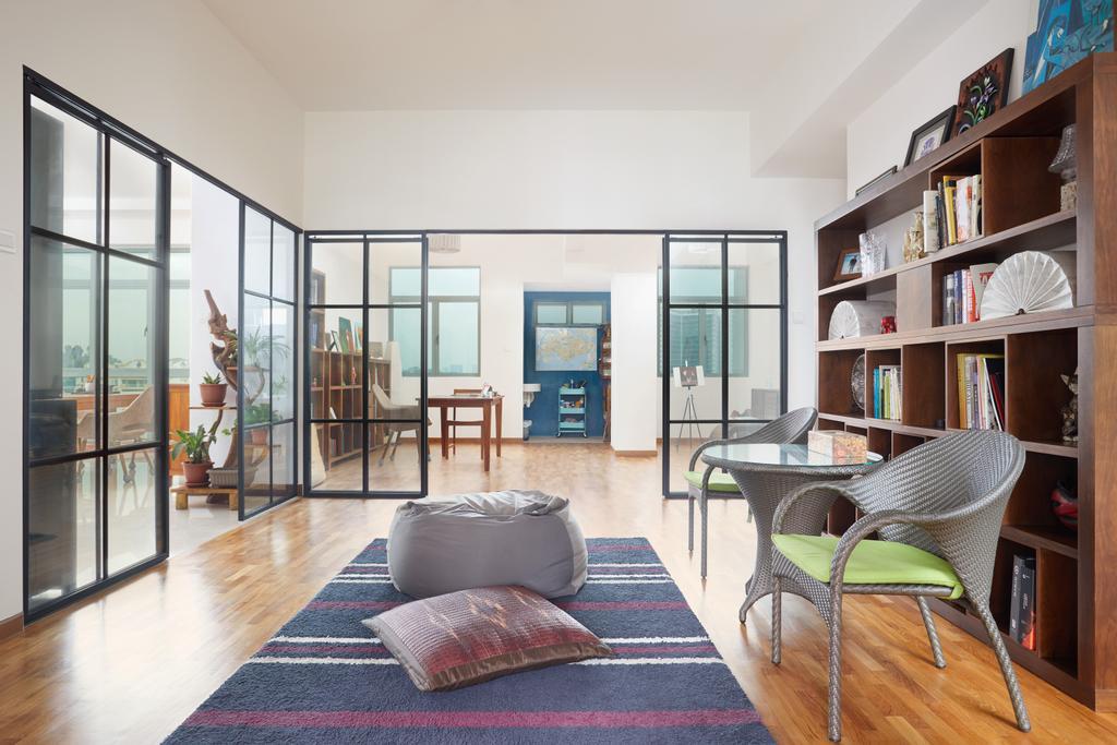 Contemporary, Condo, Study, Merawoods, Interior Designer, Design 4 Space