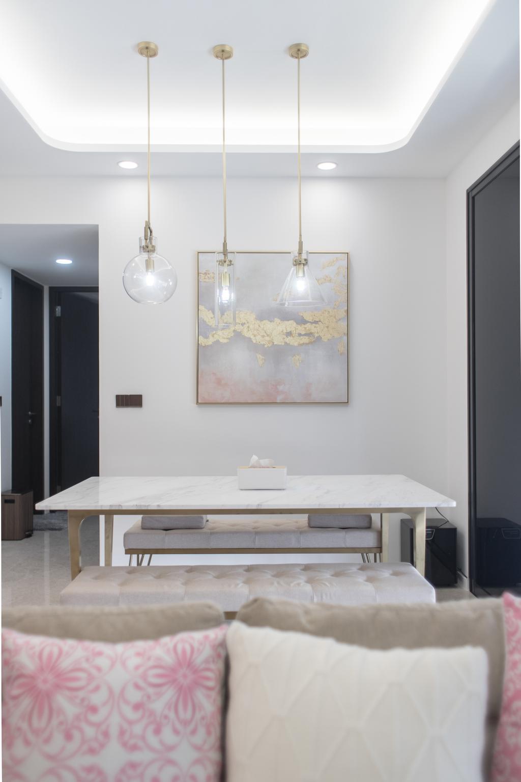Contemporary, Condo, Dining Room, Botanique at Bartley, Interior Designer, Design 4 Space