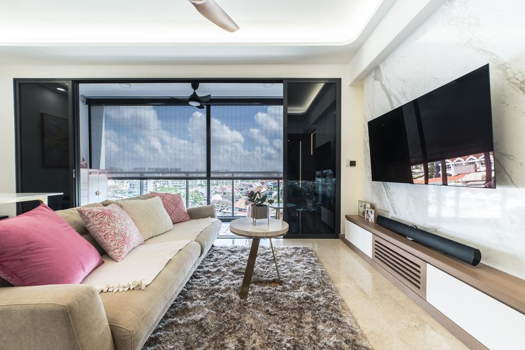 Contemporary, Condo, Living Room, Botanique at Bartley, Interior Designer, Design 4 Space