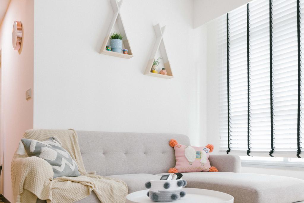 Contemporary, HDB, Living Room, Circuit Road, Interior Designer, Ideal Design Interior, Scandinavian