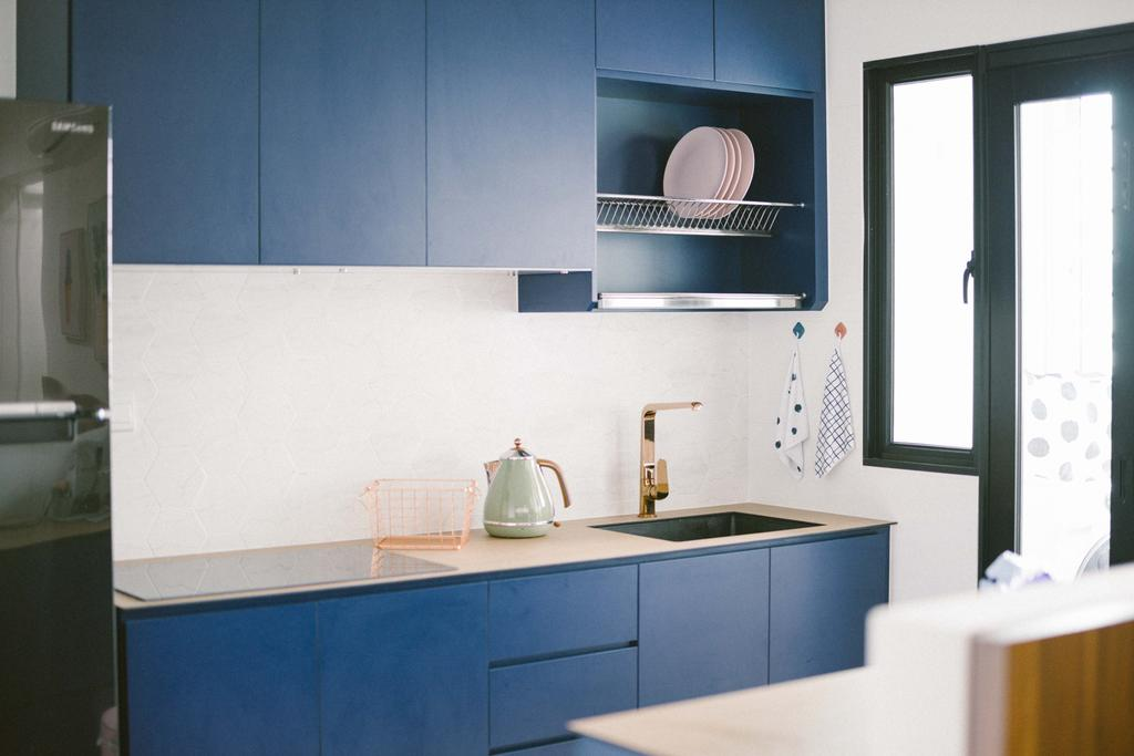 Contemporary, HDB, Kitchen, Circuit Road, Interior Designer, Ideal Design Interior, Scandinavian