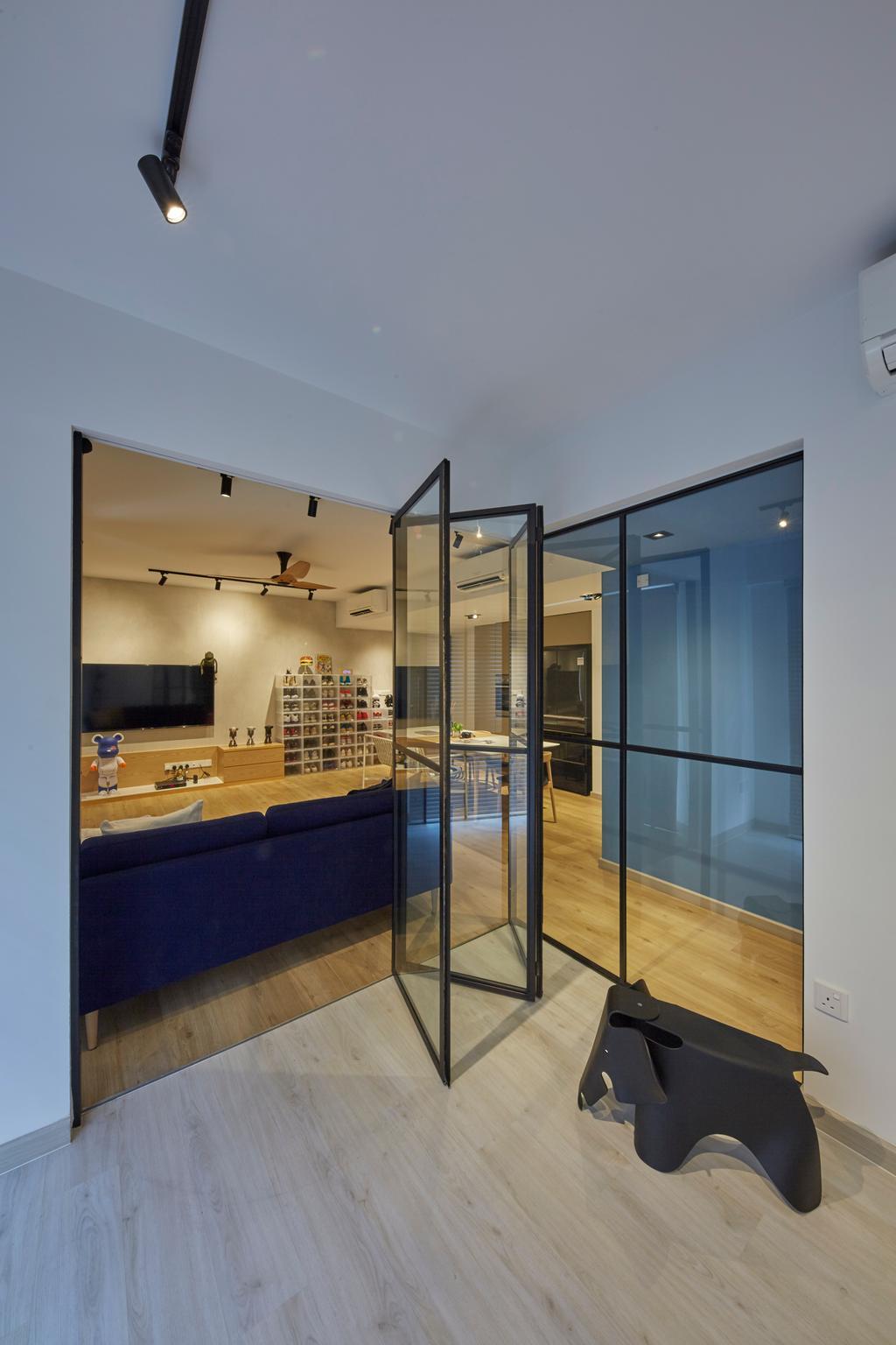 Contemporary, Condo, Kitchen, Bellewaters, Interior Designer, LS2 Design & Construction, Industrial