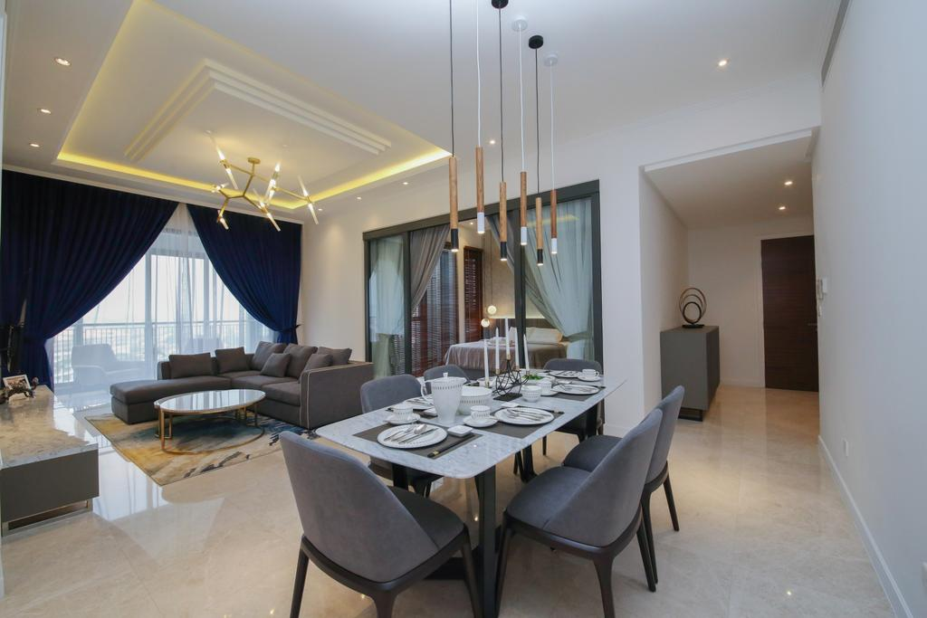 Modern, Condo, Dining Room, Astaka, Johor Bahru, Interior Designer, Muse Design Group Sdn Bhd
