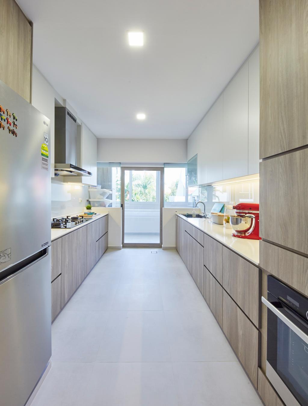Contemporary, Condo, Kitchen, Katong Gardens, Interior Designer, LS2 Design & Construction