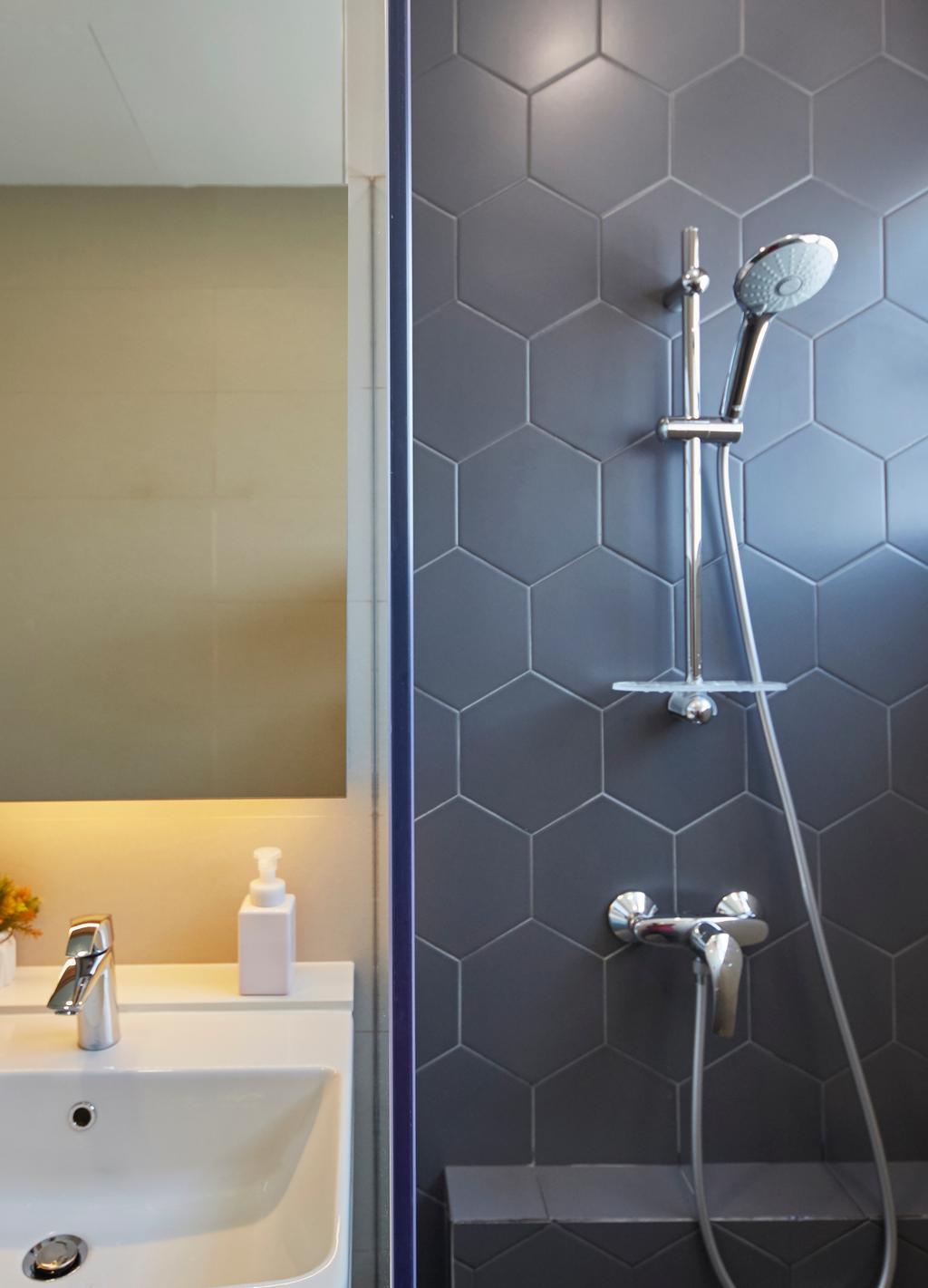 Contemporary, Condo, Bathroom, Katong Gardens, Interior Designer, LS2 Design & Construction