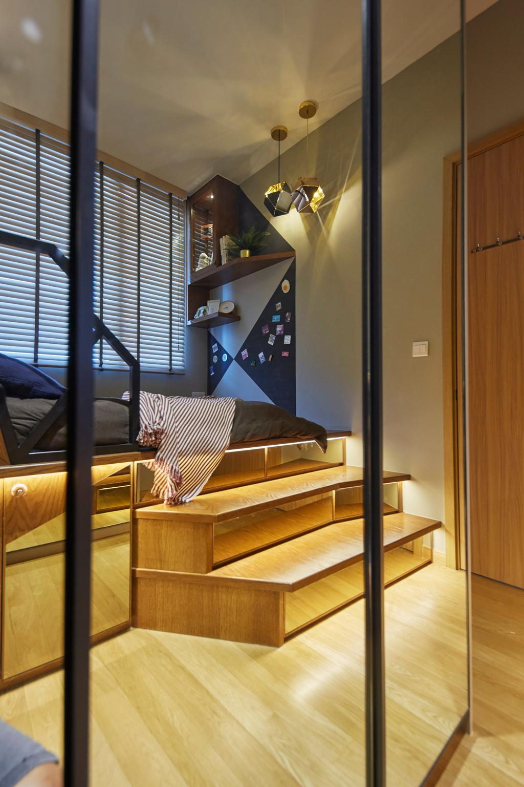 Contemporary, Condo, Bedroom, City Gate, Interior Designer, LS2 Design & Construction