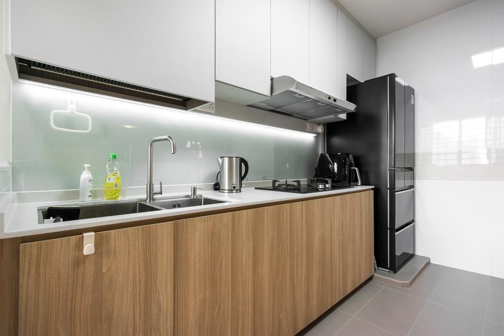 Modern, HDB, Kitchen, Toa Payoh East, Interior Designer, Flo Design