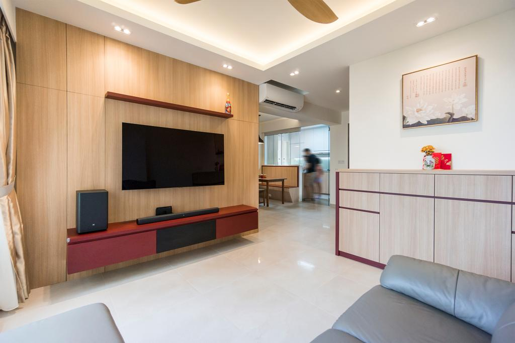 Modern, HDB, Living Room, Toa Payoh East, Interior Designer, Flo Design