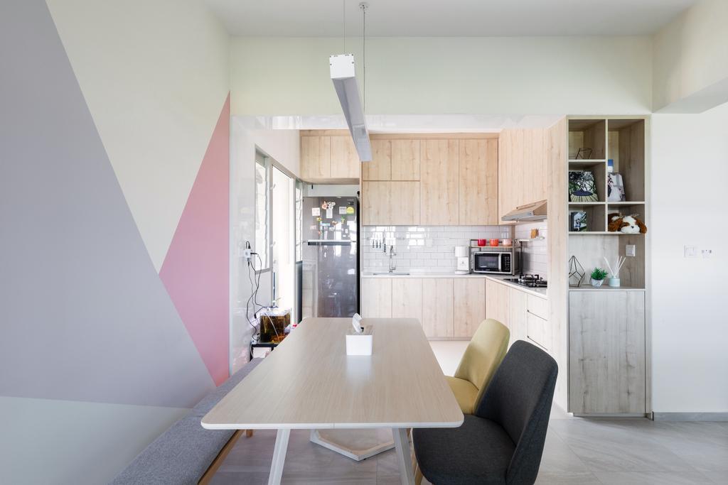 Contemporary, HDB, Dining Room, Bukit Batok West Avenue 5, Interior Designer, Yang's Inspiration Design