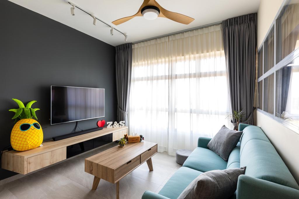 Contemporary, HDB, Living Room, Bukit Batok West Avenue 5, Interior Designer, Yang's Inspiration Design