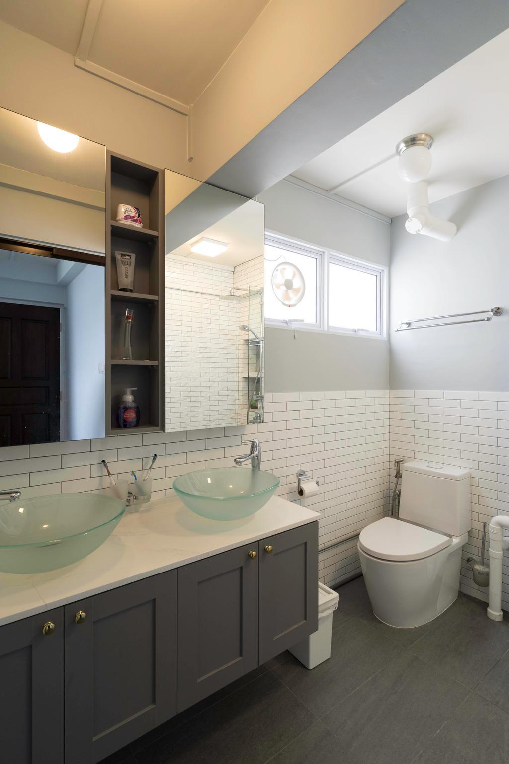 Contemporary, HDB, Bathroom, Jurong East Street 13, Interior Designer, Klein Interiors