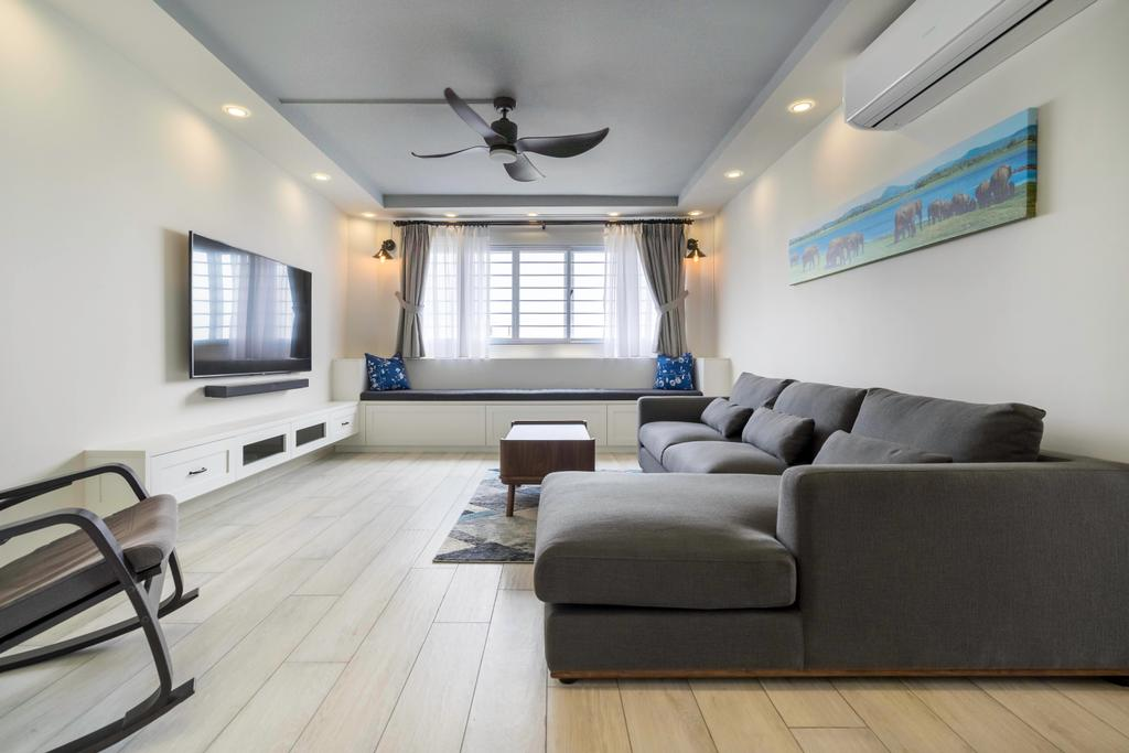 Contemporary, HDB, Living Room, Jurong East Street 13, Interior Designer, Klein Interiors