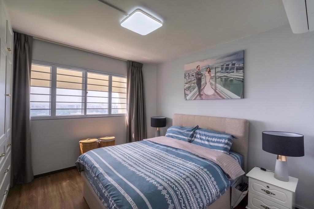 Contemporary, HDB, Bedroom, Jurong East Street 13, Interior Designer, Klein Interiors
