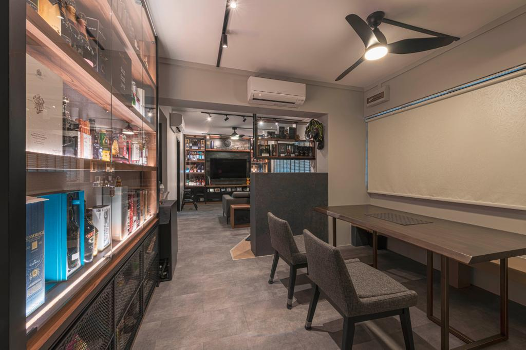 Contemporary, HDB, Dining Room, Pine Close, Interior Designer, Metier Planner, Industrial
