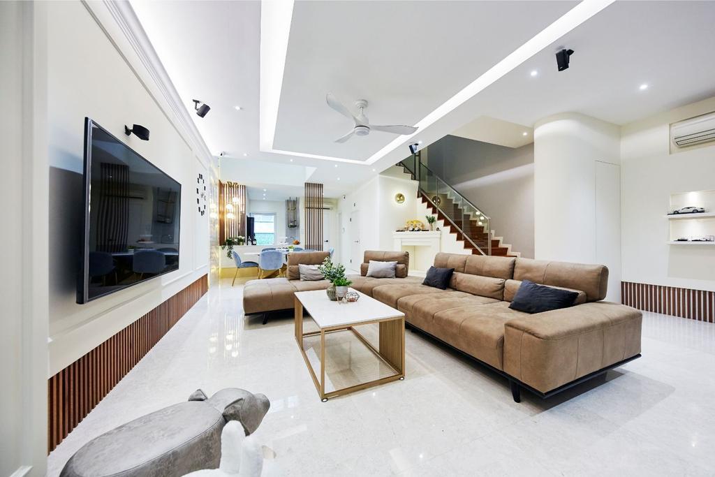 Contemporary, Landed, Living Room, Pavilion Circle, Interior Designer, Carpenters 匠