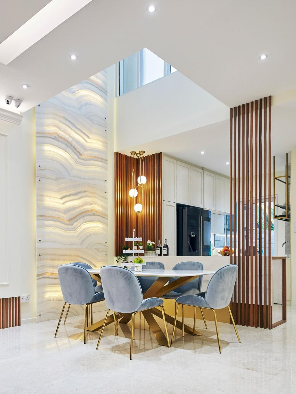 Contemporary, Landed, Dining Room, Pavilion Circle, Interior Designer, Carpenters 匠