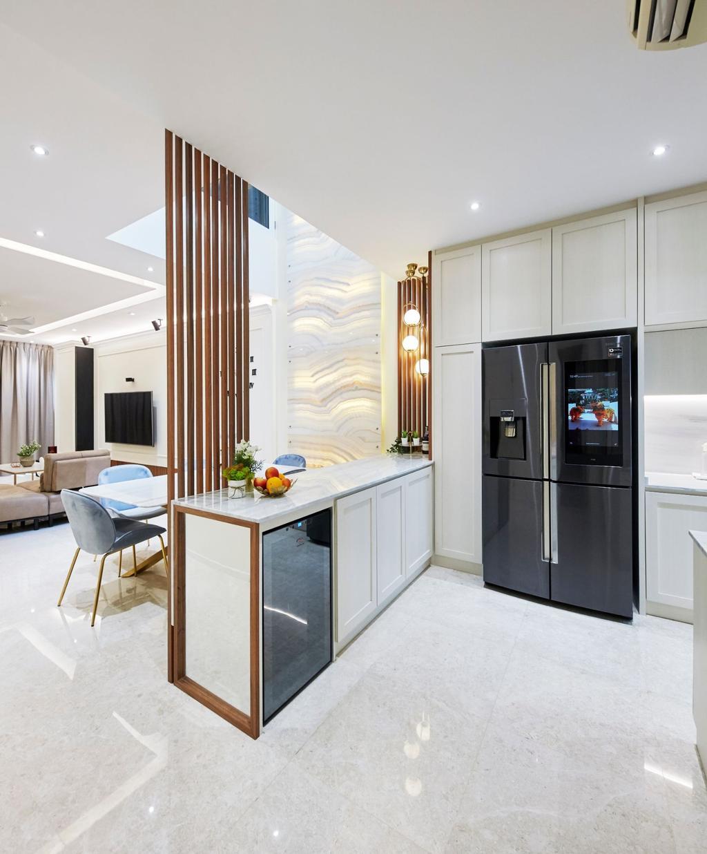 Contemporary, Landed, Kitchen, Pavilion Circle, Interior Designer, Carpenters 匠