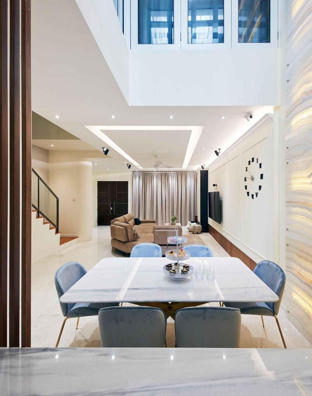 Contemporary, Landed, Dining Room, Pavilion Circle, Interior Designer, Carpenters 匠