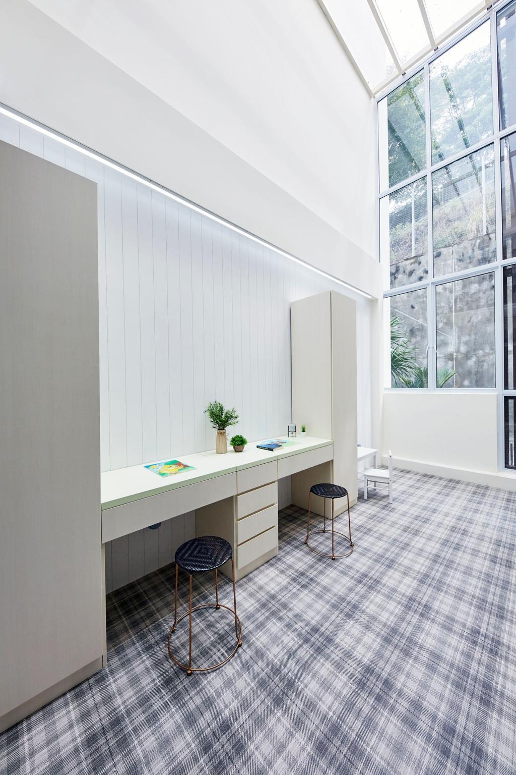 Contemporary, Landed, Study, Pavilion Circle, Interior Designer, Carpenters 匠