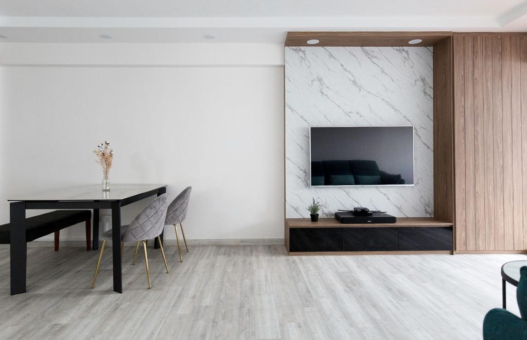 Contemporary, HDB, Living Room, Jurong West Street 81, Interior Designer, Carpenters 匠, Minimalistic