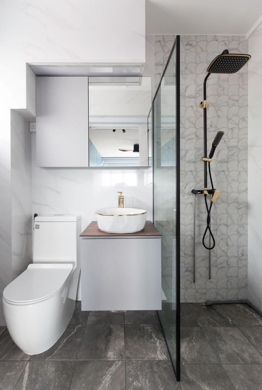 Contemporary, HDB, Bathroom, Jurong West Street 81, Interior Designer, Carpenters 匠, Minimalistic