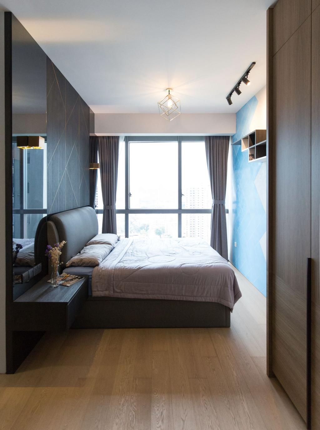 Contemporary, Condo, Bedroom, Echelon, Interior Designer, Carpenters 匠