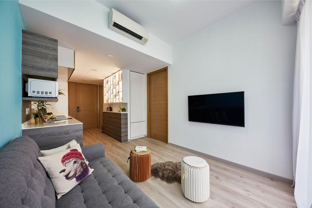 Contemporary, Condo, Living Room, Coco Palms, Interior Designer, Carpenters 匠