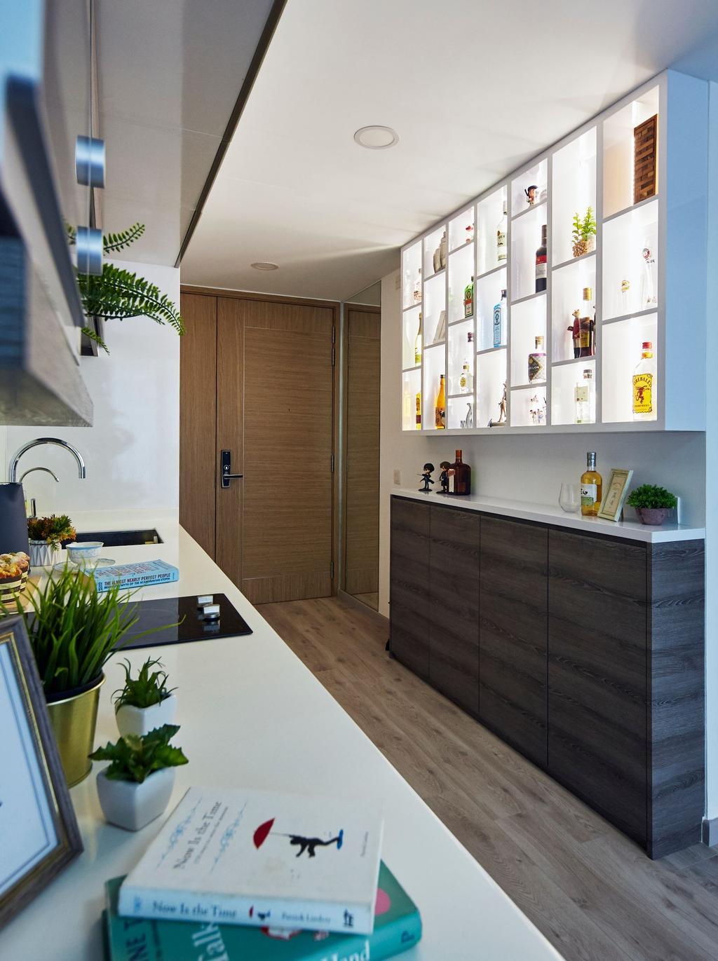 Contemporary, Condo, Kitchen, Coco Palms, Interior Designer, Carpenters 匠