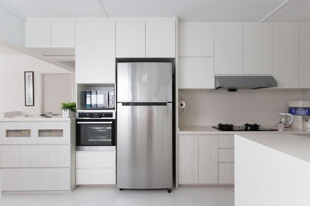 Contemporary, HDB, Kitchen, Yishun Street 61, Interior Designer, Carpenters 匠
