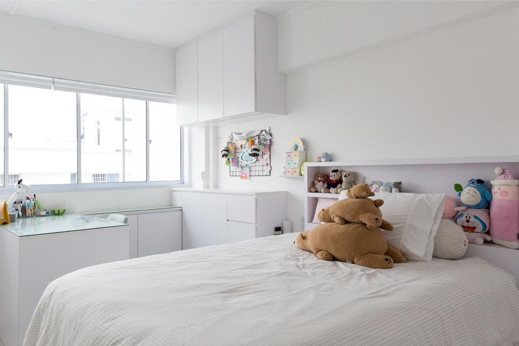 Contemporary, HDB, Bedroom, Yishun Street 61, Interior Designer, Carpenters 匠