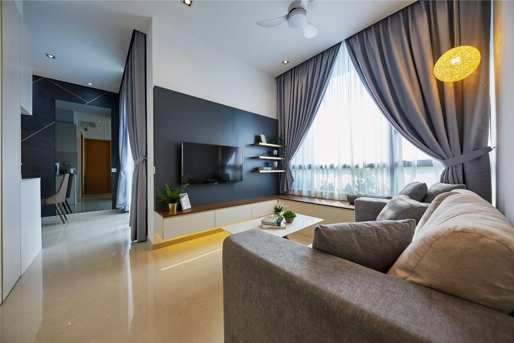 Contemporary, Condo, Living Room, Prince Charles Crescent, Interior Designer, Carpenters 匠