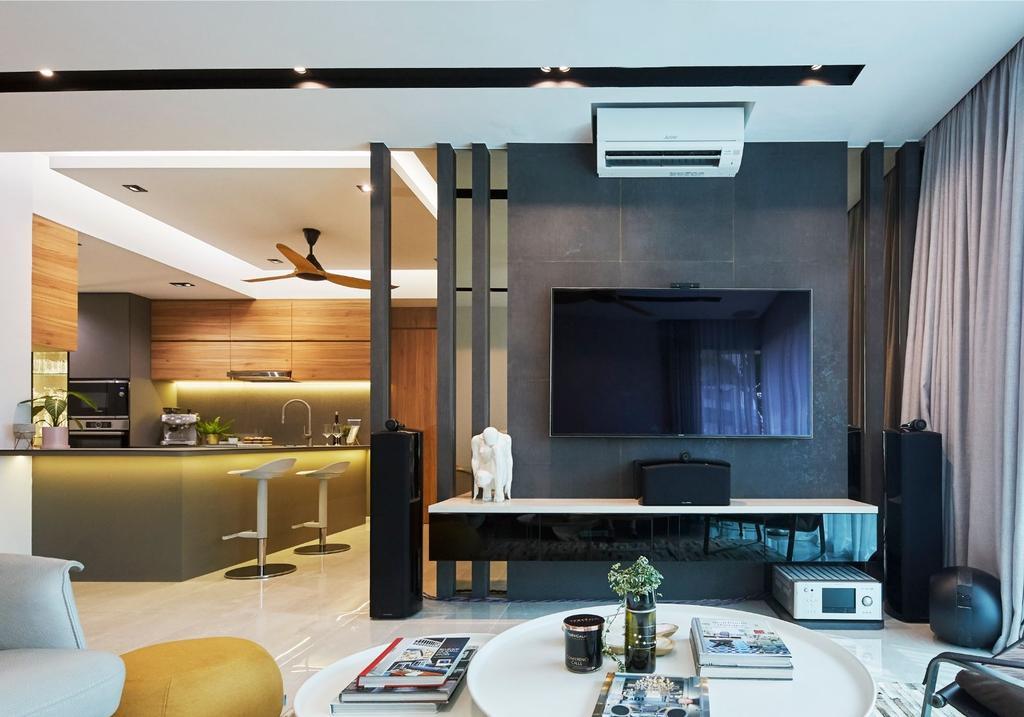 Contemporary, Condo, Living Room, The Clearwater, Interior Designer, Carpenters 匠