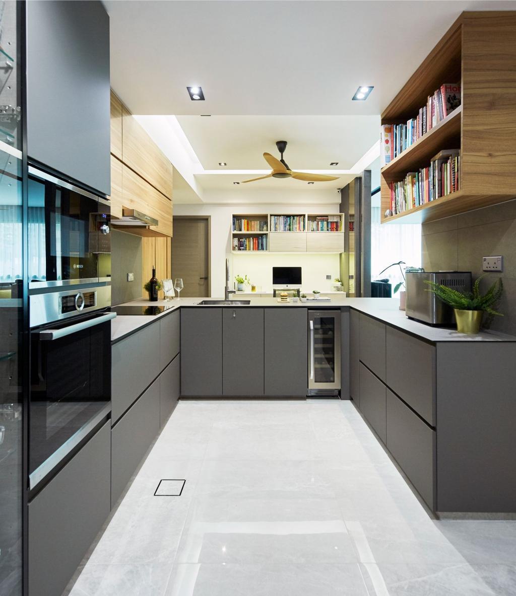 Contemporary, Condo, Kitchen, The Clearwater, Interior Designer, Carpenters 匠