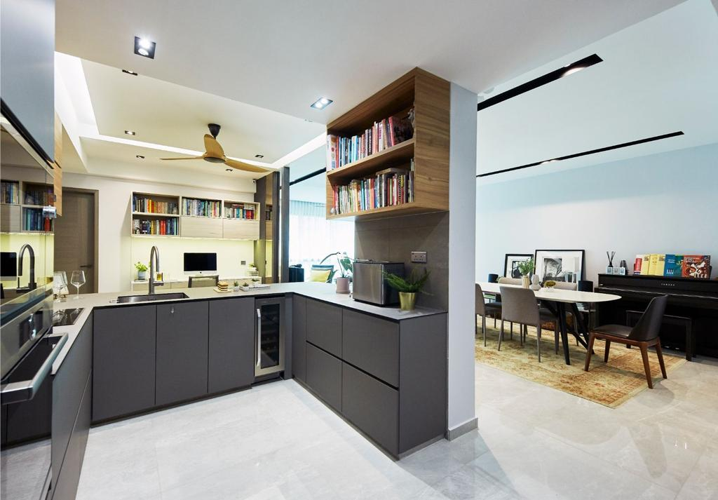 Contemporary, Condo, The Clearwater, Interior Designer, Carpenters 匠