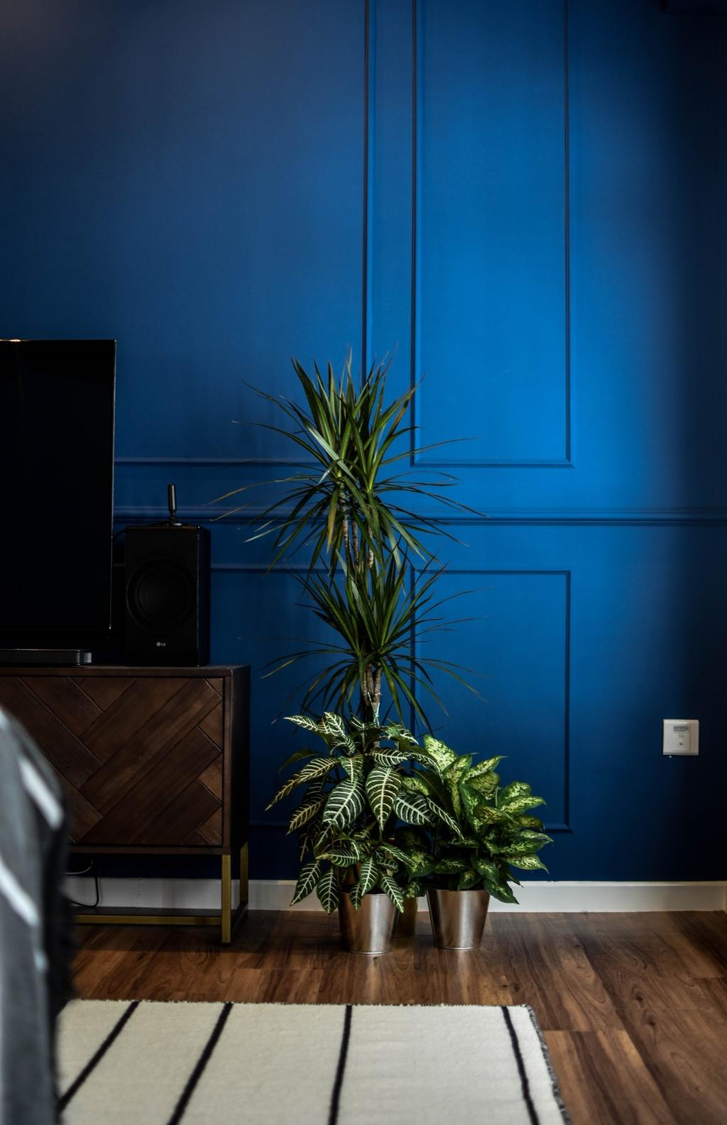 Contemporary, HDB, Living Room, Canberra Walk, Interior Designer, Carpenters 匠, Blue