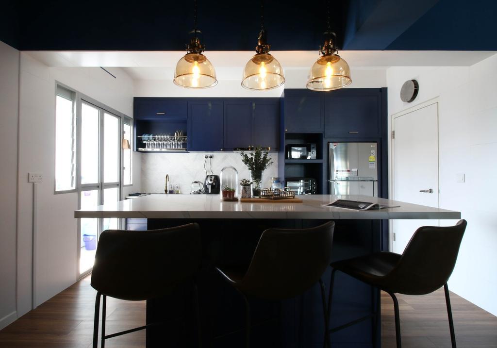 Contemporary, HDB, Kitchen, Canberra Walk, Interior Designer, Carpenters 匠