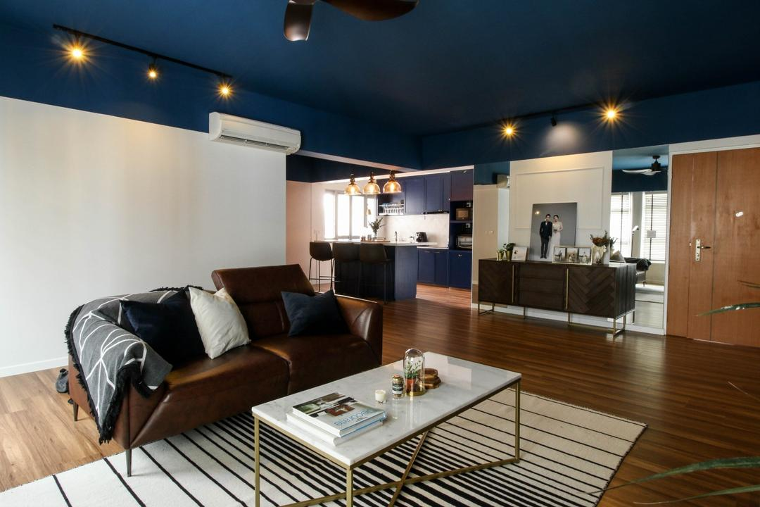 Canberra Walk, Carpenters 匠, Contemporary, Living Room, HDB, Flexi Spaces, Open Space, Open Concept