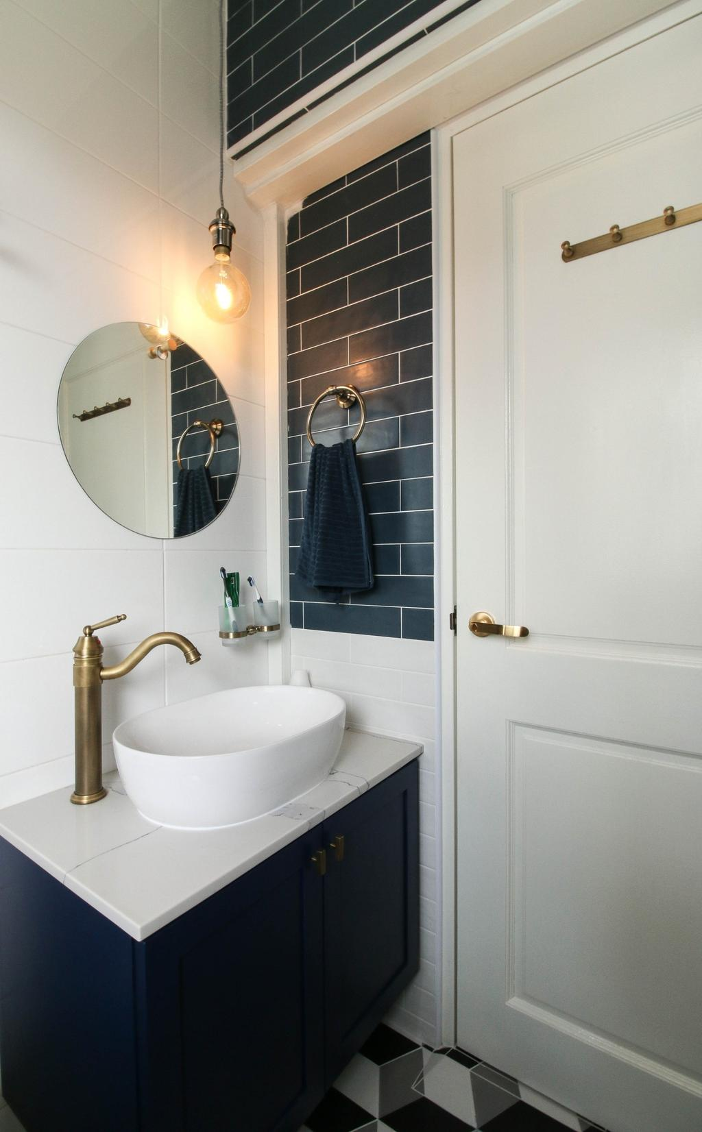 Contemporary, HDB, Bathroom, Canberra Walk, Interior Designer, Carpenters 匠