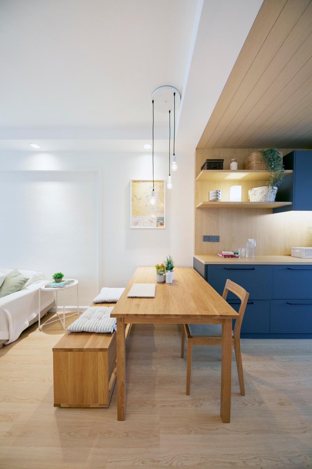 Scandinavian, HDB, Dining Room, Clementi Avenue 4, Interior Designer, Carpenters 匠