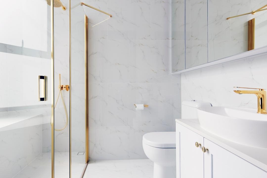 The Paterson, Carpenters 匠, Contemporary, Bathroom, Condo, Marble, Gold
